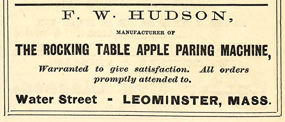 Rocking Table Apple Parer Ad 1876